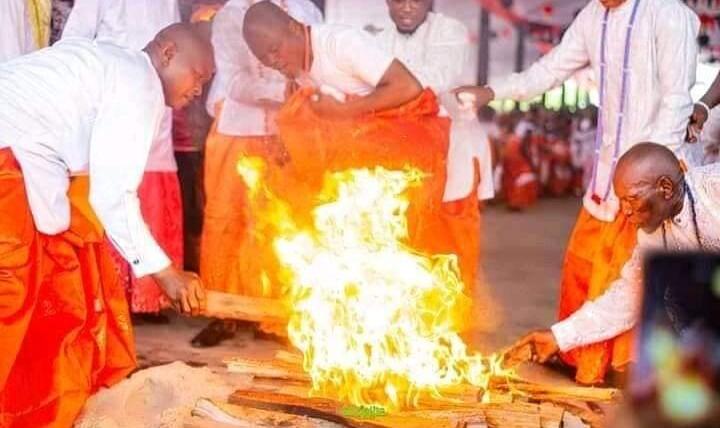 the fire dance of the Itsekiri